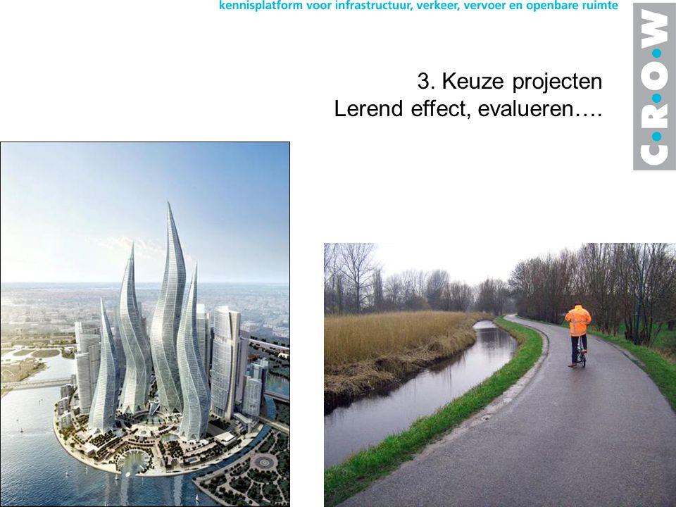 3. Keuze projecten Lerend effect, evalueren….