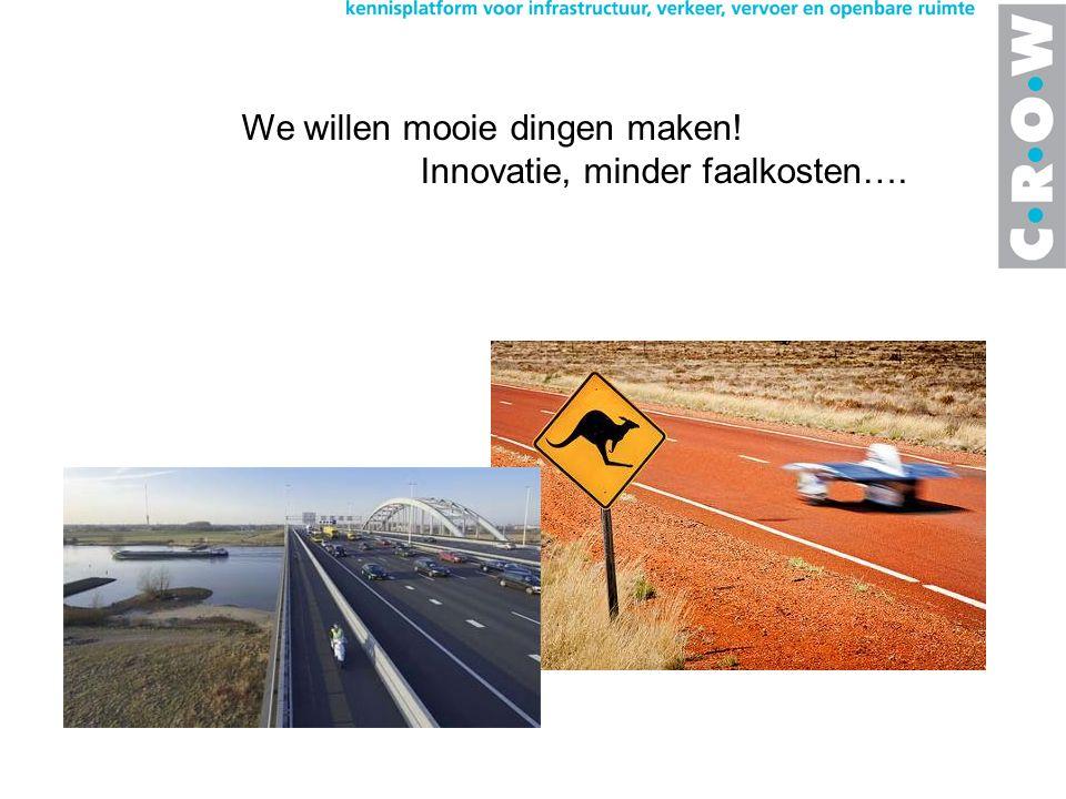 We willen mooie dingen maken! Innovatie, minder faalkosten….