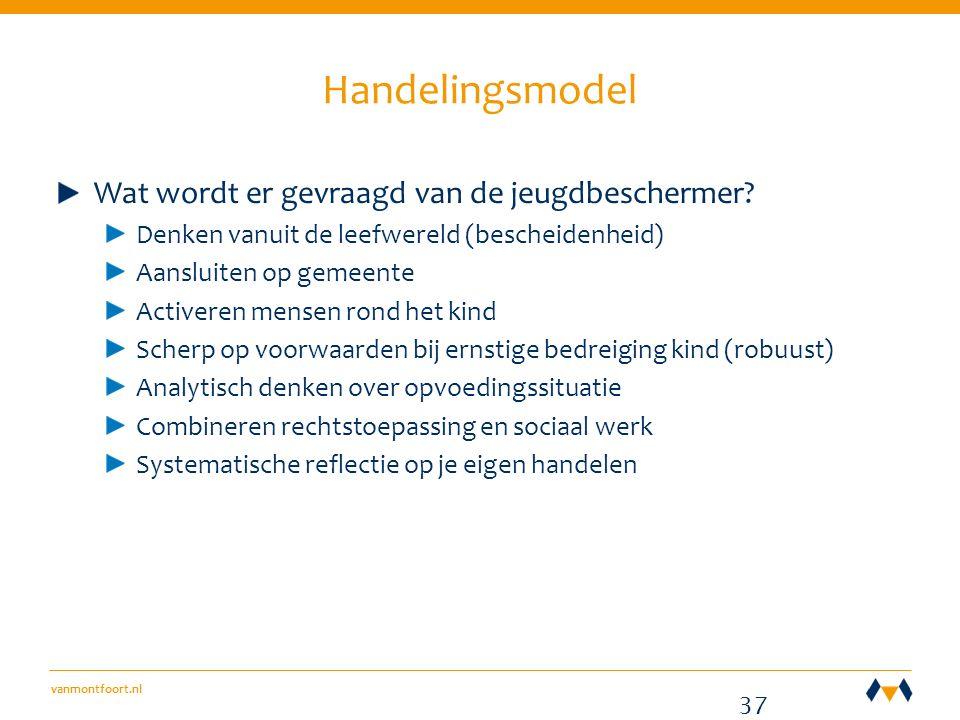 vanmontfoort.nl Handelingsmodel Wat wordt er gevraagd van de jeugdbeschermer.
