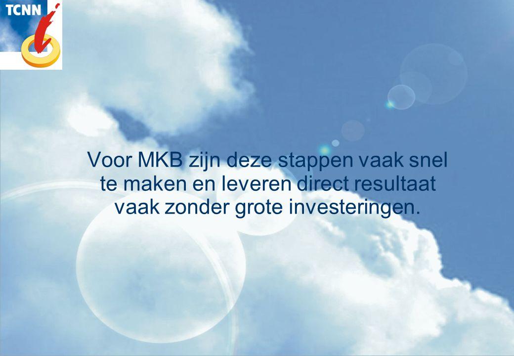 Voor MKB zijn deze stappen vaak snel te maken en leveren direct resultaat vaak zonder grote investeringen.
