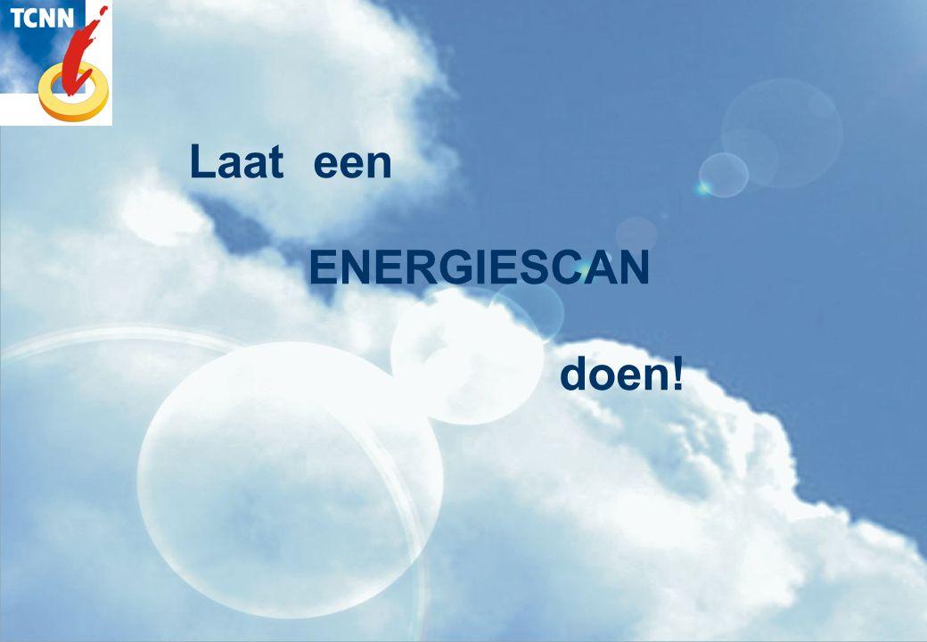 Laat een ENERGIESCAN doen!
