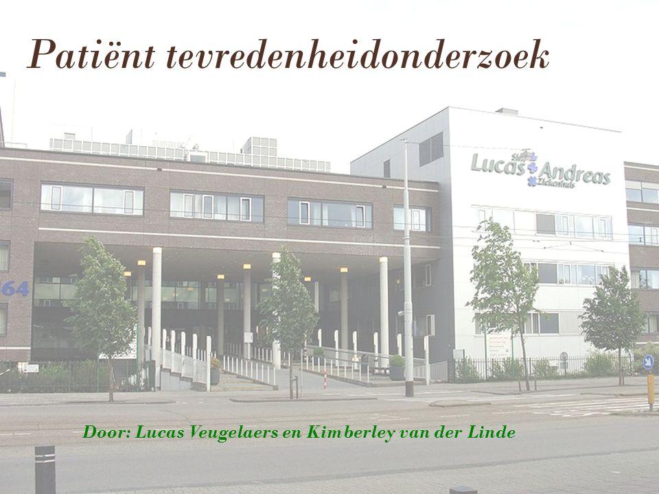 Door: Lucas Veugelaers en Kimberley van der Linde Patiënt tevredenheidonderzoek
