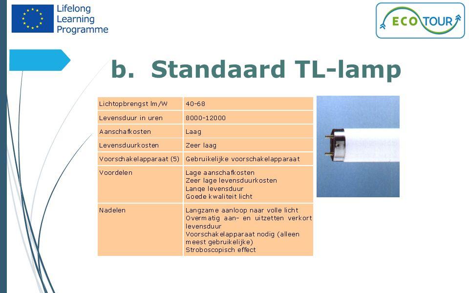 b. Standaard TL-lamp 6
