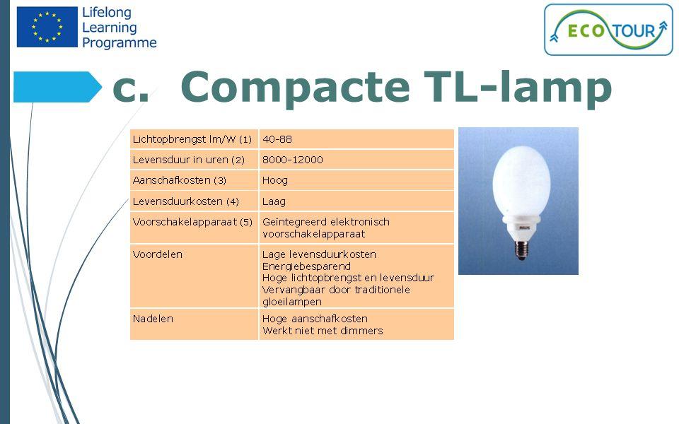 c. Compacte TL-lamp 7