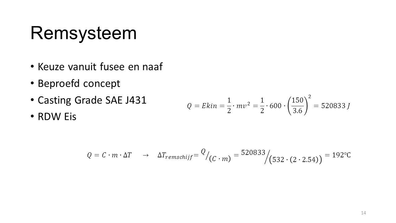 Remsysteem Keuze vanuit fusee en naaf Beproefd concept Casting Grade SAE J431 RDW Eis 14