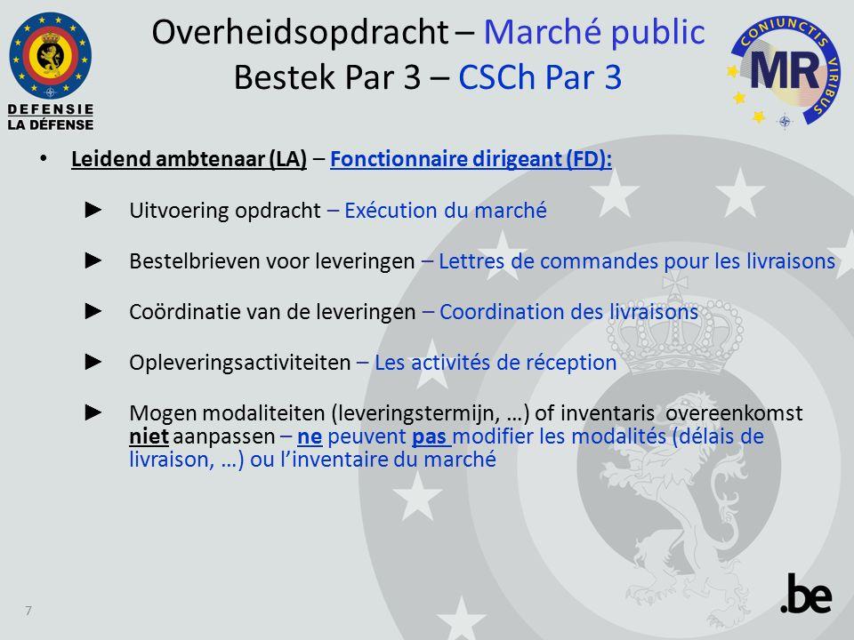 Logistiek luik 3 posten – Post Nr 1 - Leveringen via het CEPS: Leveringsschema wordt overgemaakt door de LA via de CEPS (nl.