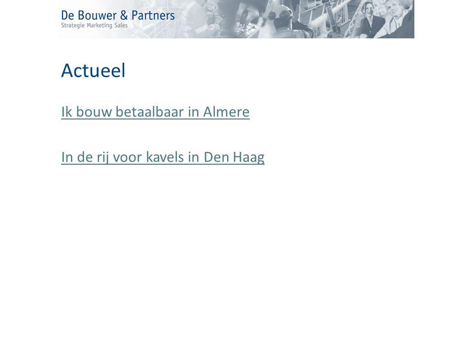 Ik bouw betaalbaar in Almere In de rij voor kavels in Den Haag Actueel