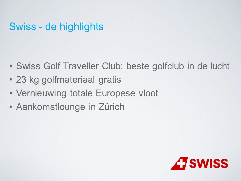 Swiss Golf Traveller Club: beste golfclub in de lucht 23 kg golfmateriaal gratis Vernieuwing totale Europese vloot Aankomstlounge in Zürich