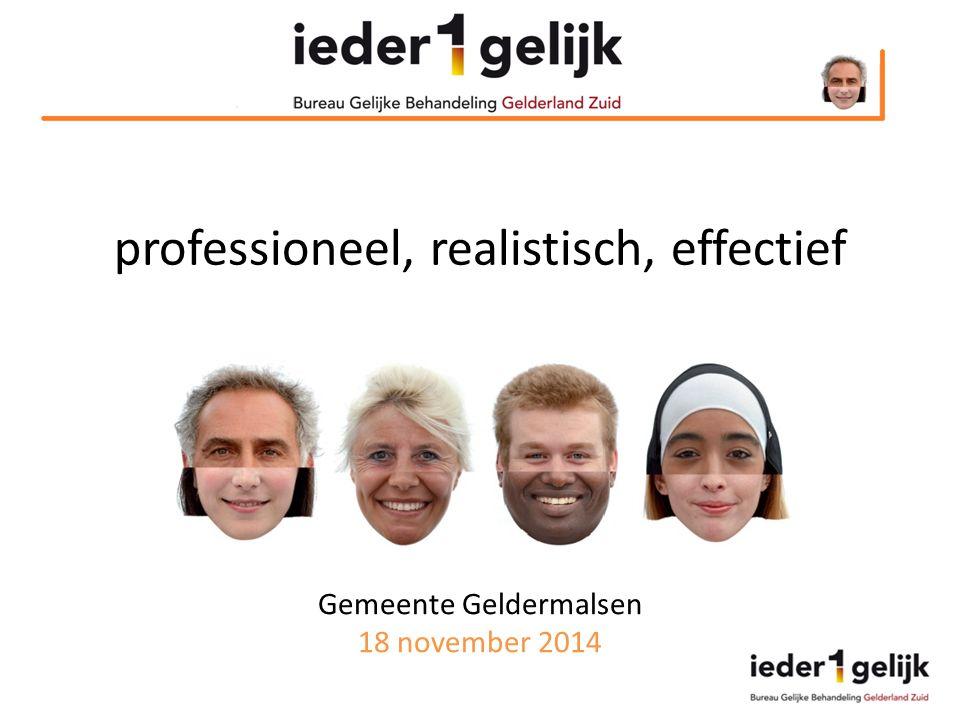 Gemeente Geldermalsen 18 november 2014 professioneel, realistisch, effectief