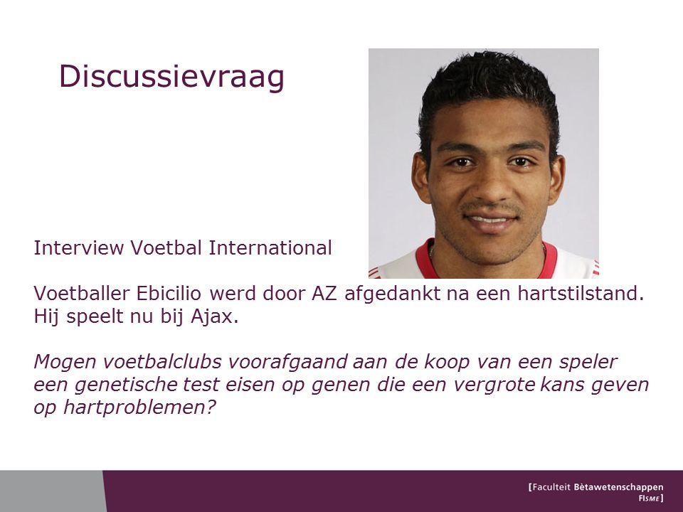 Discussievraag Interview Voetbal International Voetballer Ebicilio werd door AZ afgedankt na een hartstilstand.