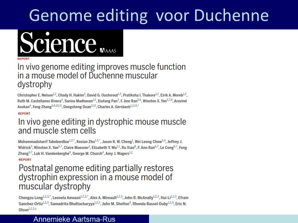 Genome editing voor Duchenne Annemieke Aartsma-Rus