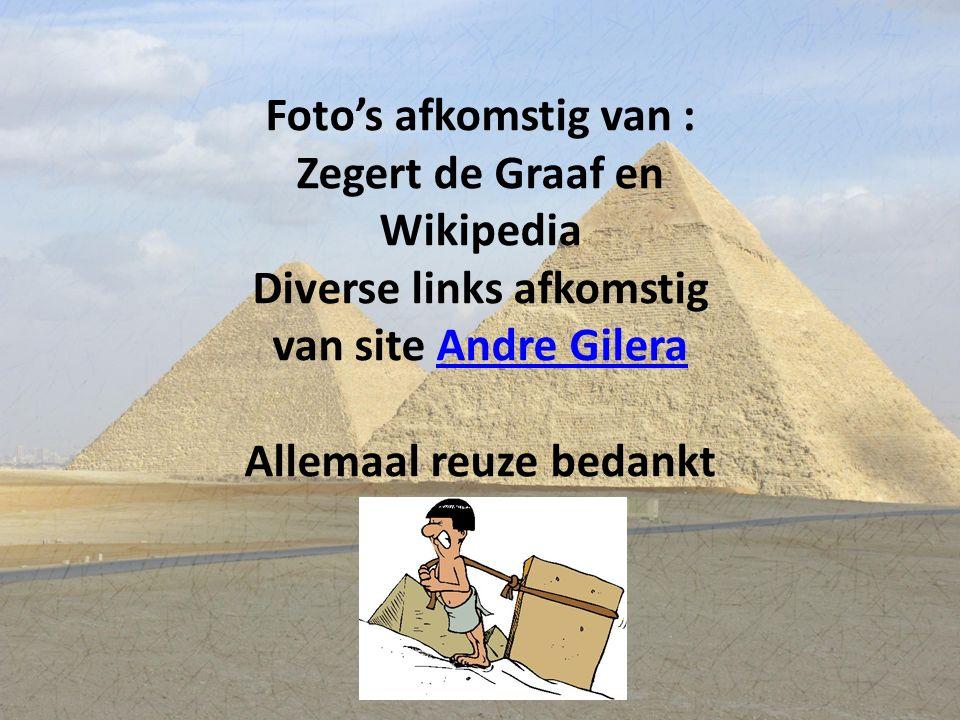 Foto's afkomstig van : Zegert de Graaf en Wikipedia Diverse links afkomstig van site Andre GileraAndre Gilera Allemaal reuze bedankt