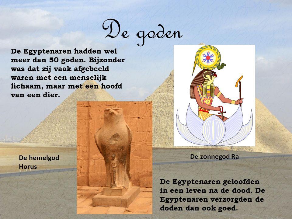 De farao Aan het hoofd van de Egyptenaren stond de farao.