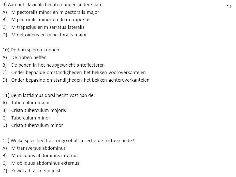 11 13) Wat is de functie van de m rectus abdominus.