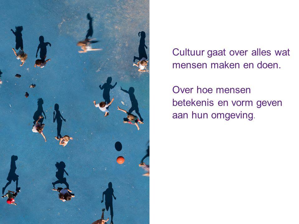 Cultuur gaat over alles wat mensen maken en doen.