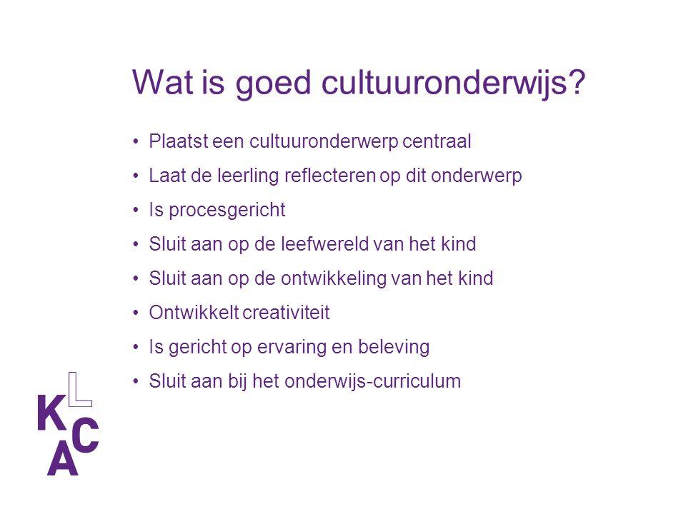 Wat is goed cultuuronderwijs.