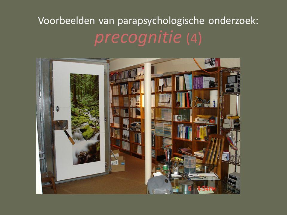 Voorbeelden van parapsychologische onderzoek: precognitie (4 )