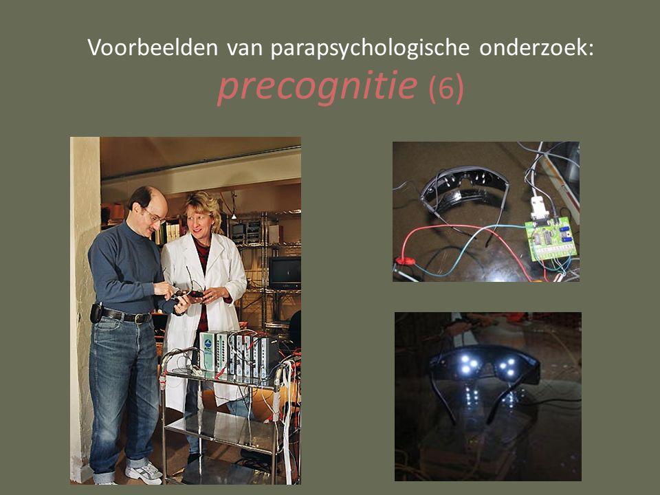 Voorbeelden van parapsychologische onderzoek: precognitie (6 )