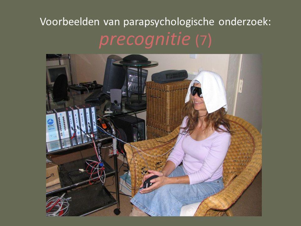 Voorbeelden van parapsychologische onderzoek: precognitie (7 )