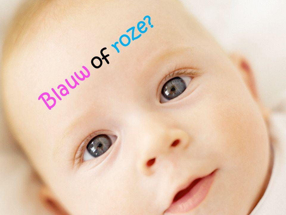 Blauw of roze