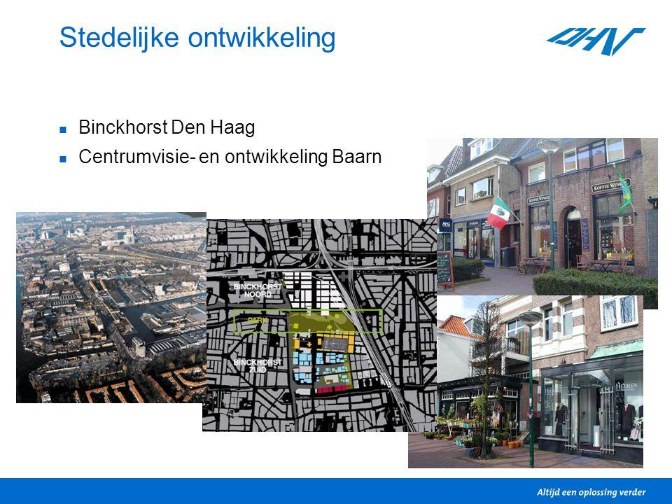 Stedelijke ontwikkeling Binckhorst Den Haag Centrumvisie- en ontwikkeling Baarn