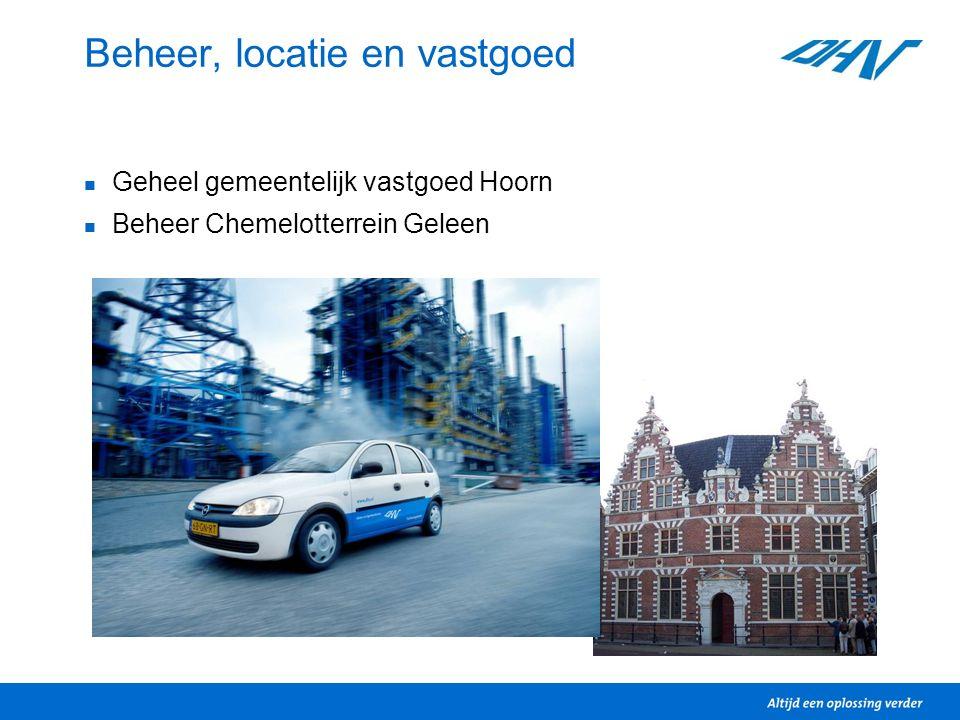 Beheer, locatie en vastgoed Geheel gemeentelijk vastgoed Hoorn Beheer Chemelotterrein Geleen