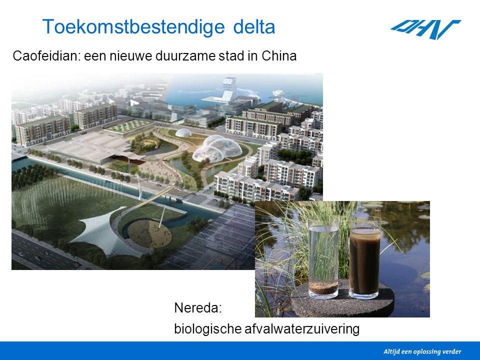 Toekomstbestendige delta Caofeidian: een nieuwe duurzame stad in China Nereda: biologische afvalwaterzuivering
