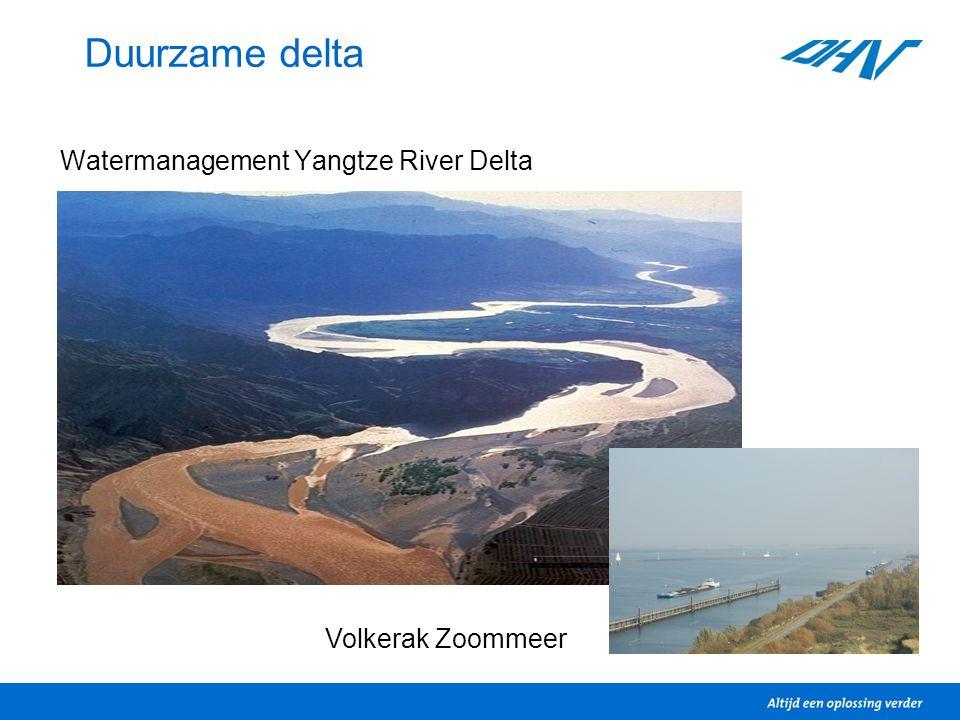 Duurzame delta Watermanagement Yangtze River Delta Volkerak Zoommeer