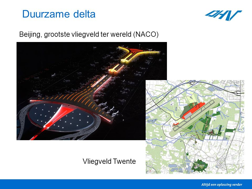Duurzame delta Vliegveld Twente Beijing, grootste vliegveld ter wereld (NACO)