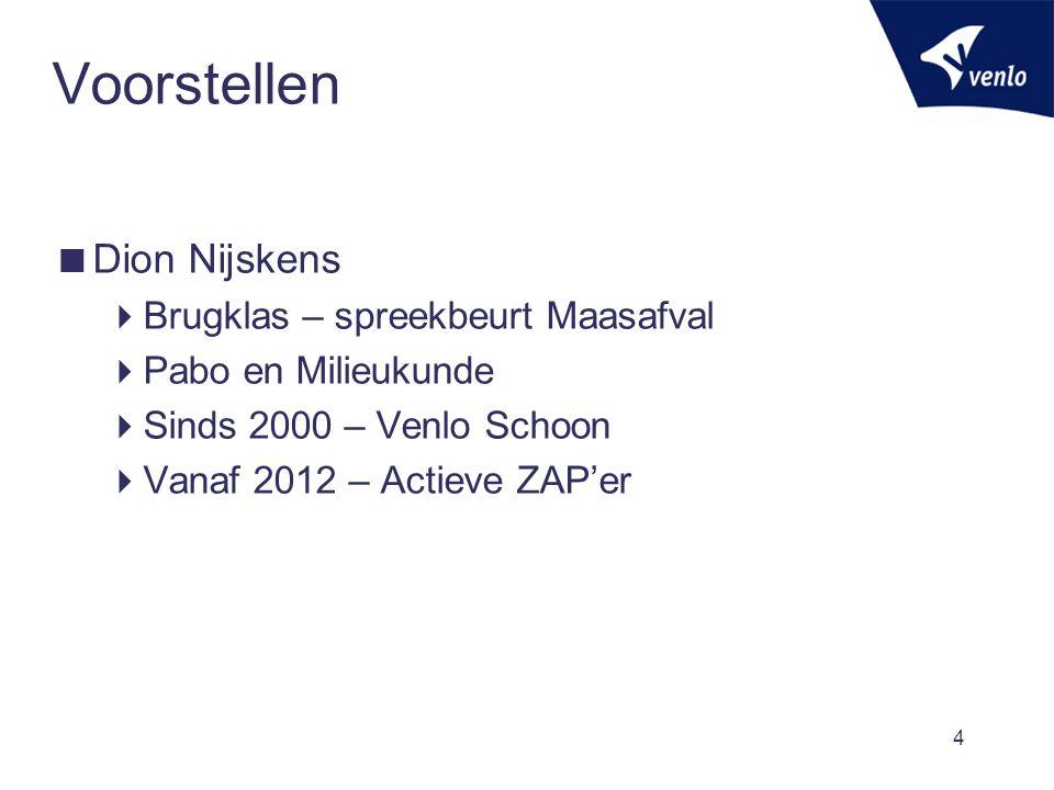 Geschiedenis - 2000  Start Venlo Schoon in 2000:  Gemeente maakt meer schoon.
