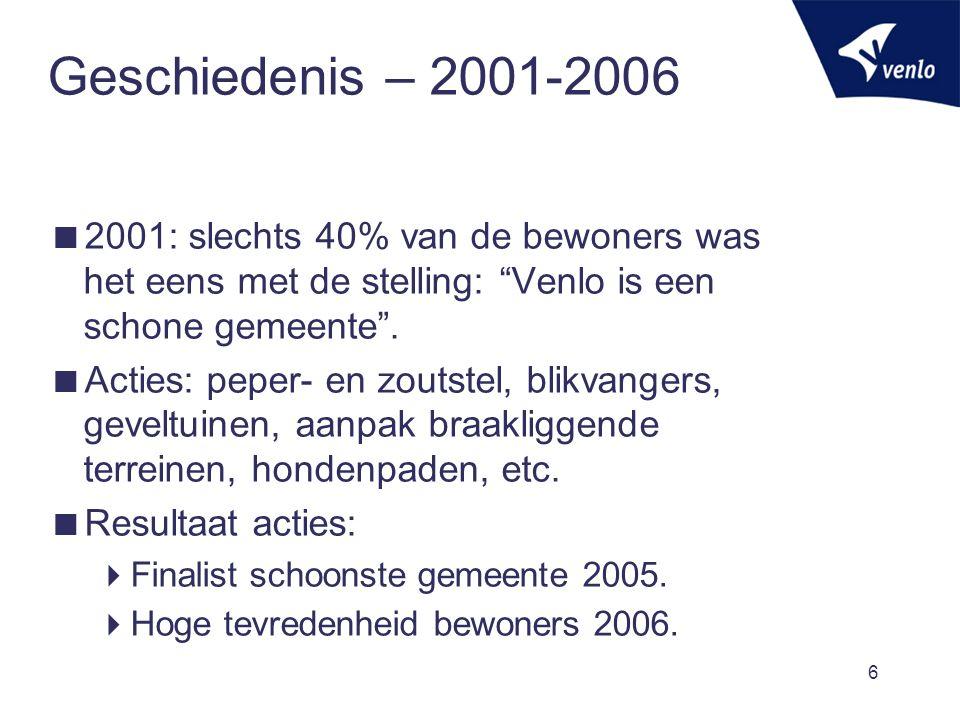 Geschiedenis – 2007 - 2011  Politiek 2006  Beste jongetje van klas is niet nodig.