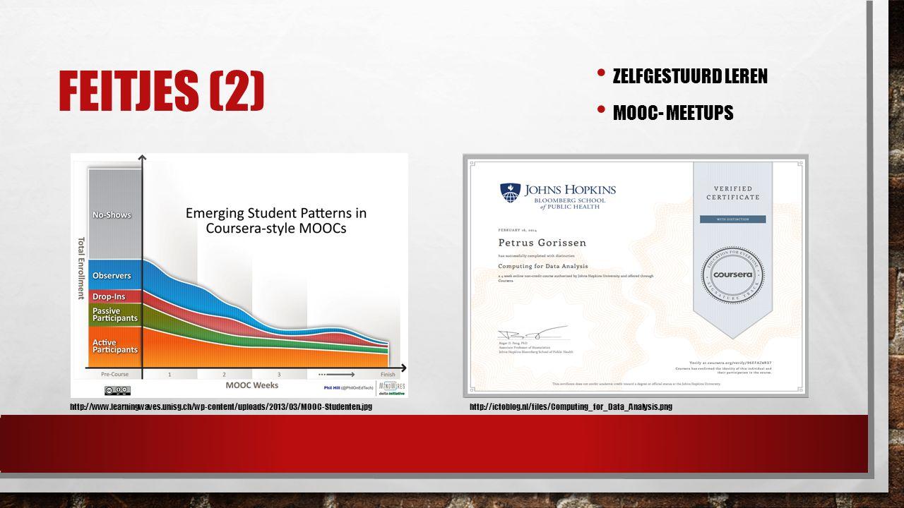 FEITJES (2) ZELFGESTUURD LEREN MOOC- MEETUPS http://www.learningwaves.unisg.ch/wp-content/uploads/2013/03/MOOC-Studenten.jpghttp://ictoblog.nl/files/C