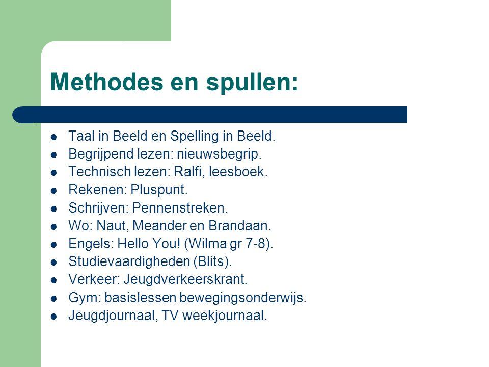 Methodes en spullen: Taal in Beeld en Spelling in Beeld.