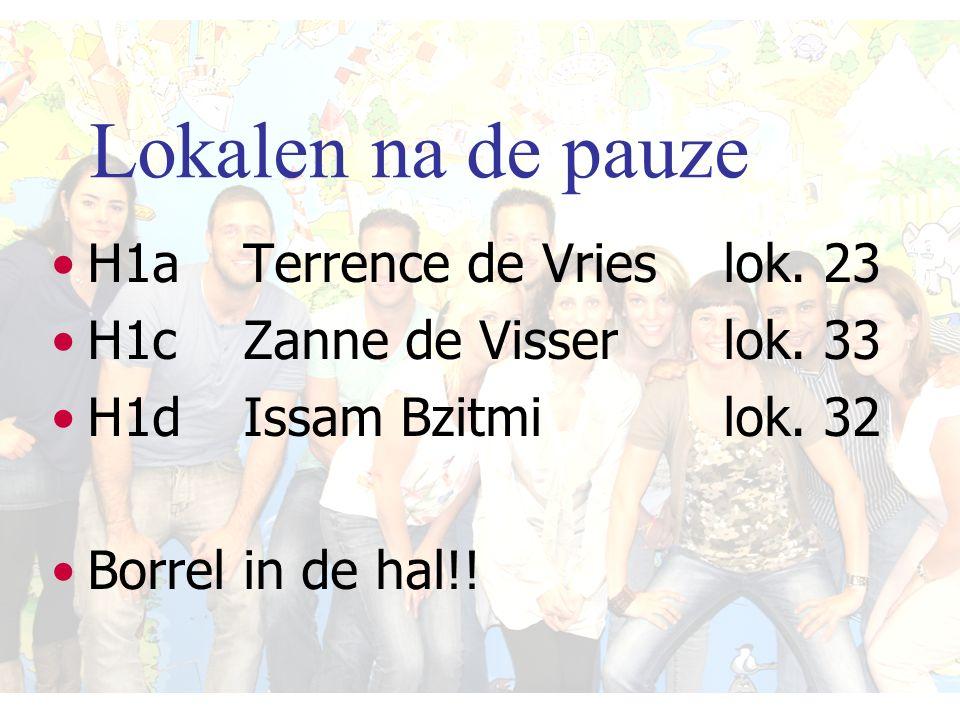H1a Terrence de Vrieslok. 23 H1cZanne de Visserlok.