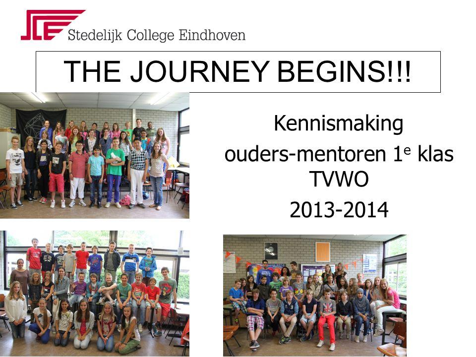 Kennismaking ouders-mentoren 1 e klas TVWO 2013-2014