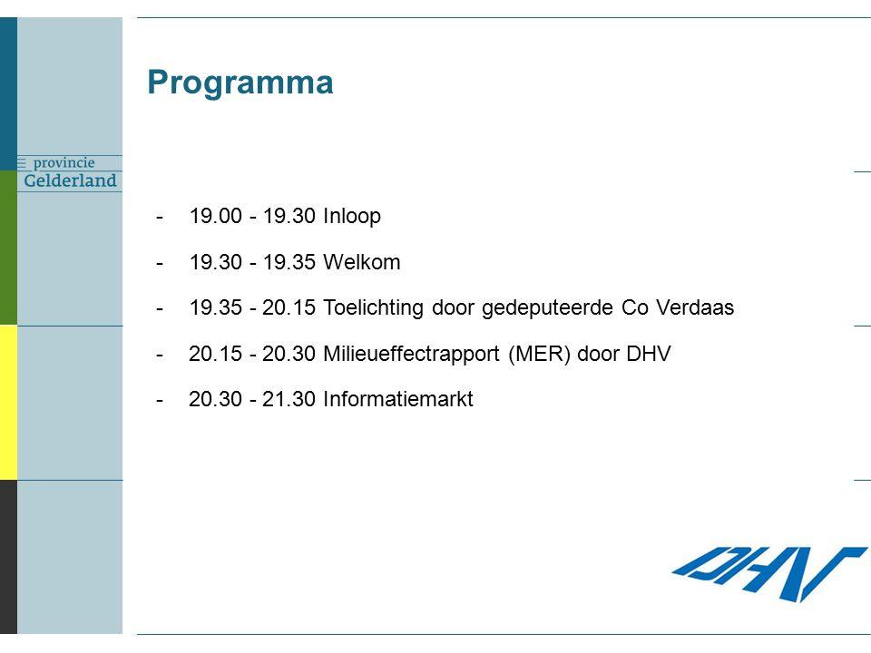 Effecten: geluid Geluid door inrichting Hoogstens 45 dB(A), bij 7 woningen Woningen bij Deest al geluidbelast Max.