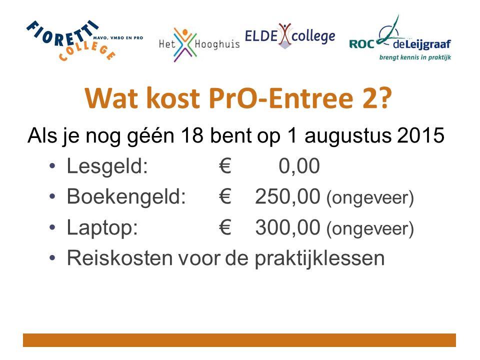 Wat kost PrO-Entree 2.