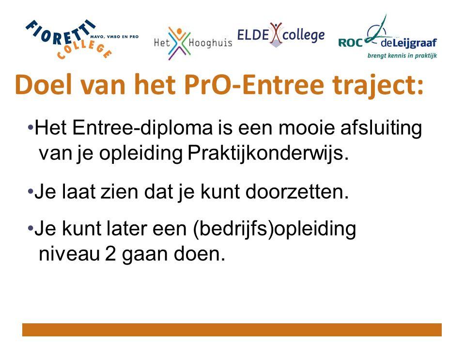 Doel van het PrO-Entree traject: Het Entree-diploma is een mooie afsluiting van je opleiding Praktijkonderwijs.