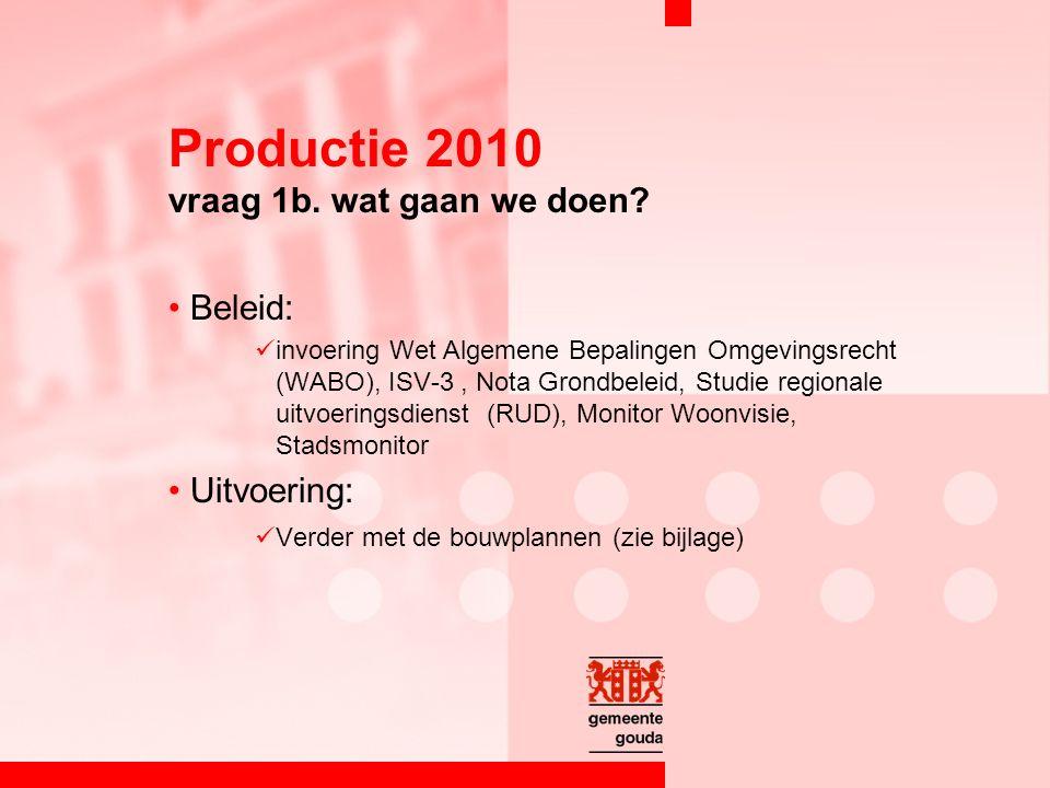 Productie 2010 vraag 1b. wat gaan we doen.