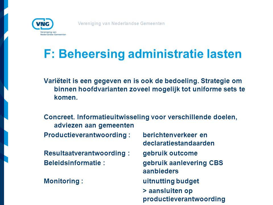 Vereniging van Nederlandse Gemeenten Variëteit is een gegeven en is ook de bedoeling.