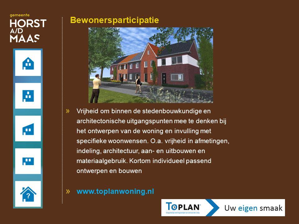 Bewonersparticipatie » Vrijheid om binnen de stedenbouwkundige en architectonische uitgangspunten mee te denken bij het ontwerpen van de woning en inv