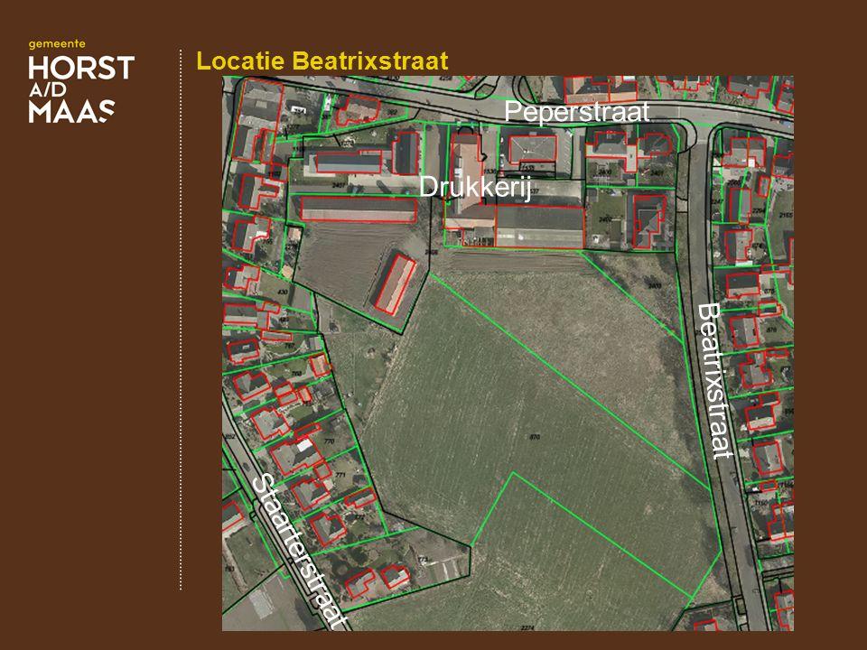 Locatie Beatrixstraat Drukkerij Beatrixstraat Peperstraat Staarterstraat