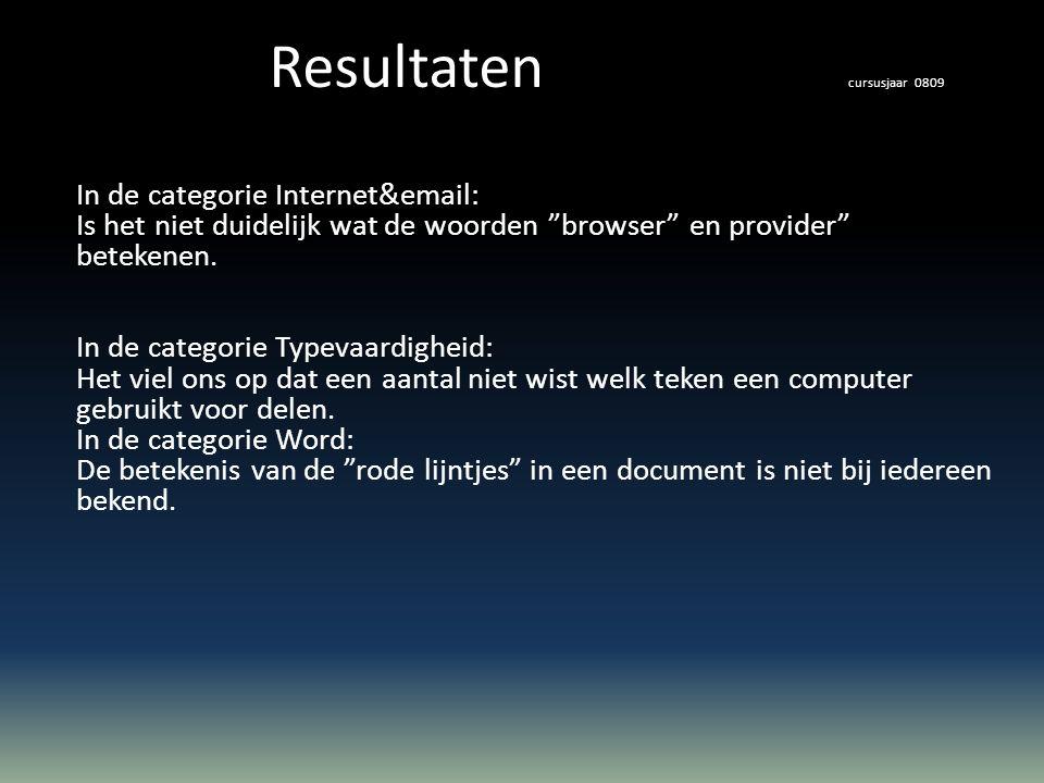 In de categorie Internet&email: Is het niet duidelijk wat de woorden browser en provider betekenen.