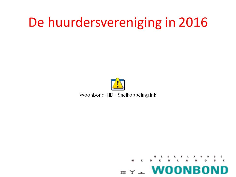 De huurdersvereniging in 2016