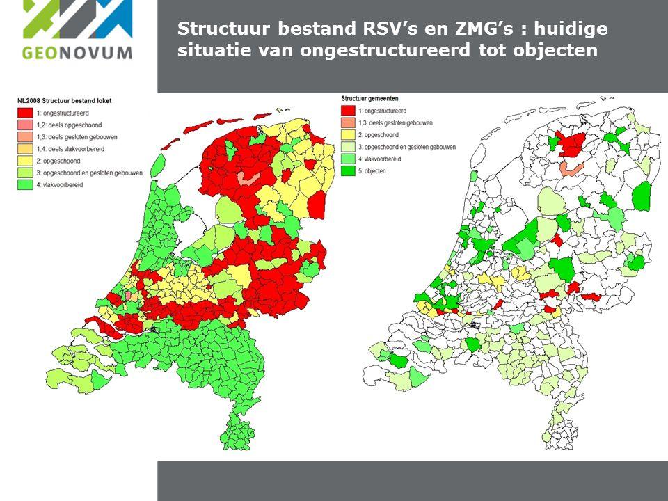 Afstemming van geo Structuur bestand RSV's en ZMG's : huidige situatie van ongestructureerd tot objecten