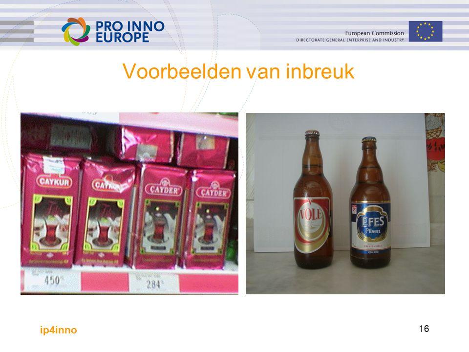 ip4inno 16 Voorbeelden van inbreuk.