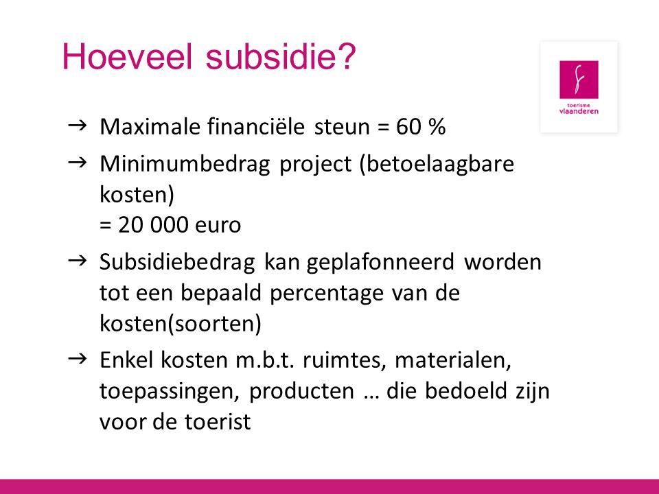 Hoeveel subsidie.