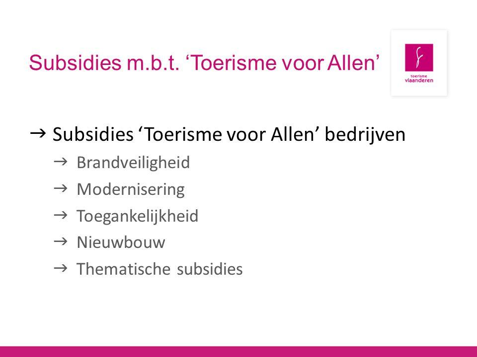 Subsidies m.b.t.