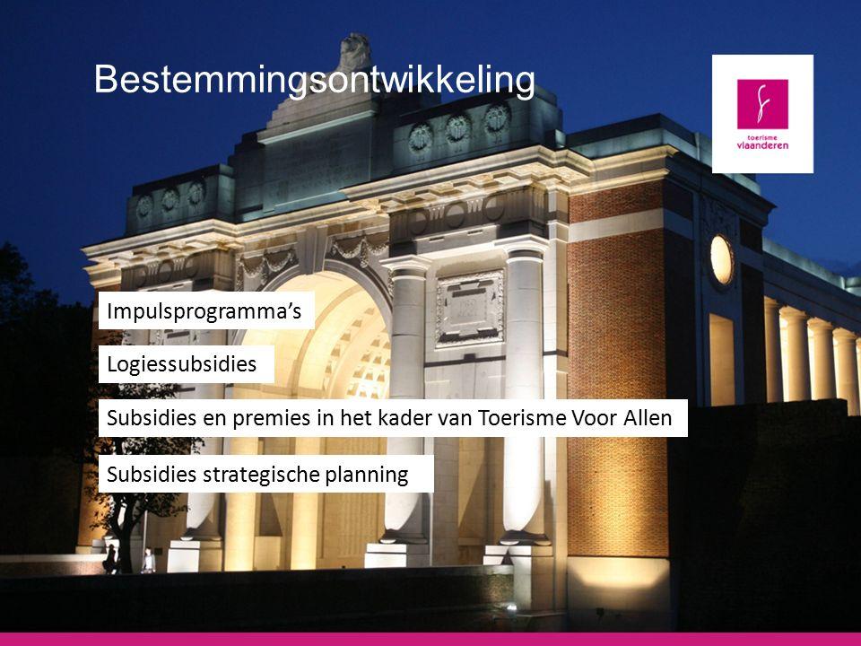 Ondersteuning en inspiratie Overzicht instrumentarium Toerisme Vlaanderen
