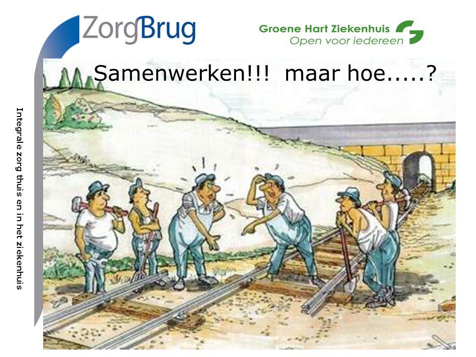 Integrale zorg thuis en in het ziekenhuis In ZorgBrug werken samen: Groene Hart Ziekenhuis, Vierstroomzorgring en Thuiszorg Hollands Midden Samenwerken!!.